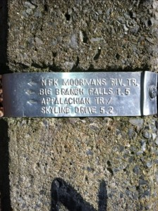 Northfork Moorman trail marker