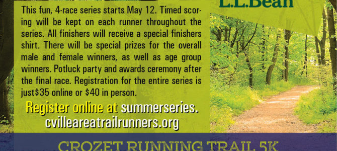 Registration for 2018 Summer Trail Running Series is Open!